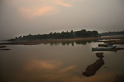 September 23, 2016 - Lahore, Punjab, Pakistan - An attractive and beautiful view after the sun sets at river Ravi in Lahore. (Credit Image: © Rana Sajid Hussain/Pacific Press via ZUMA Wire)