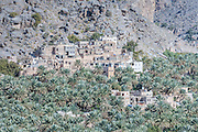 mountain village, Misfat Al Abriyeen, Oman, Middle East, Asia