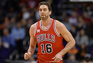 Nov 18, 2015; Phoenix, AZ, USA; Chicago Bulls center Pau Gasol (16) runs up the court in the game against the Phoenix Suns at Talking Stick Resort Arena. The Bulls won 103-97. Mandatory Credit: Jennifer Stewart-USA TODAY Sports