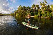 Stand Up Paddle Boarding at Vunanui Bay, Viti Levu, Fiji