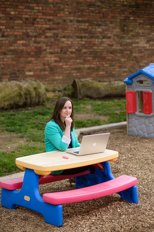Baltimore, Maryland - May 05, 2014: Jess Gartner is the CEO and founder of Baltimore-based education tech startup Allovue. The company develops software that helps schools and districts keep track of finances and analyzees how they're used. CREDIT: Matt Roth