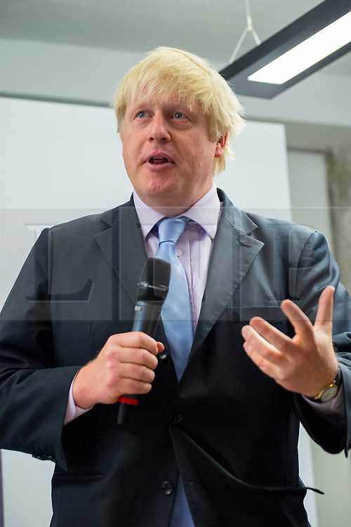 © Licensed to London News Pictures. 16/06/2014. LONDON, UK. Mayor of London Boris Johnson launching the first London Technology Week in central London on Monday, 16 June 2014. Photo credit : Tolga Akmen/LNP