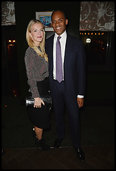 Conservative MP Adam Afriyie and his wife Tracy-Jane  attend The InterContinental Westminster  Political Party. London, United Kingdom. Wednesday, 11th September 2013. Picture by Andrew Parsons / i-Images