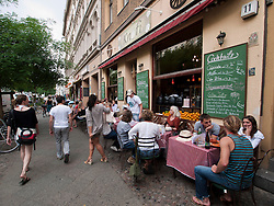 Restaurant Knofi on Bergmannstrasse in Kreuzberg district of Berlin Germany