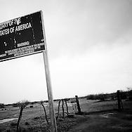 The U.S./Mexico border on Saturday, July 12, 2008 in Papago Farms, AZ.