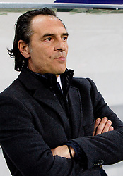 Head coach of Italy Cesare Prandelli during EURO 2012 Quaifications game between National teams of Slovenia and Italy, on March 25, 2011, SRC Stozice, Ljubljana, Slovenia. Italy defeated Slovenia 1-0.  (Photo by Vid Ponikvar / Sportida)