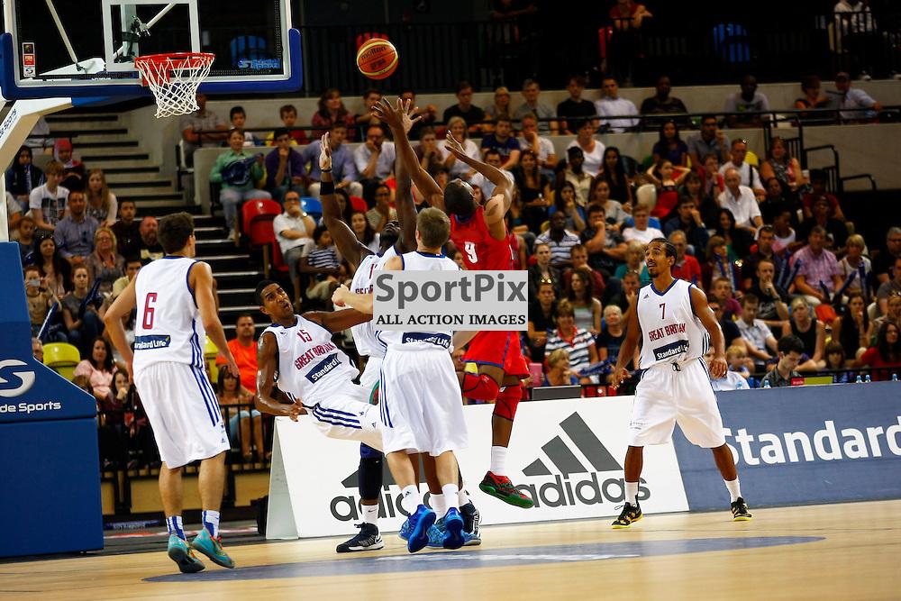 GB men vs Puerto Rico basketball at the Copper Box Arena. 11/08/2013 (c) MATT BRISTOW