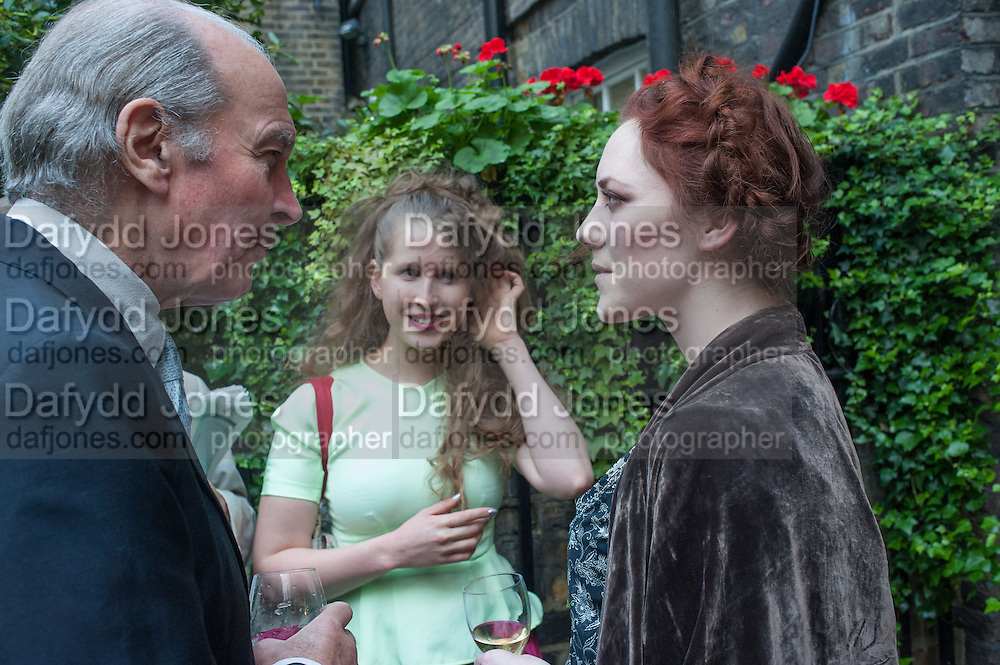 GENERAL CHARLES VYVYAN; FREYA WOOD; JESSICA ST. JAMES MOORHOUSE, Elliott and Thompson host a book launch of How the Queen can Make you Happy by Mary Killen.- Book launch. The O' Shea Gallery. St. James's St. London. 20 June 2012.