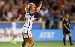 September 19, 2017 - Cincinnati, OH, USA - Cincinnati, OH - Tuesday September 19, 2017: Lindsey Horan scores during an International friendly match between the women's National teams of the United States (USA) and New Zealand (NZL) at Nippert Stadium. (Credit Image: © Brad Smith/ISIPhotos via ZUMA Wire)