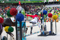 Mario Wilson Fernandes, (POR), Zurito Do Belmonte - Team & Individual Competition Jumping Speed - Alltech FEI World Equestrian Games™ 2014 - Normandy, France.<br /> © Hippo Foto Team - Leanjo De Koster<br /> 02-09-14