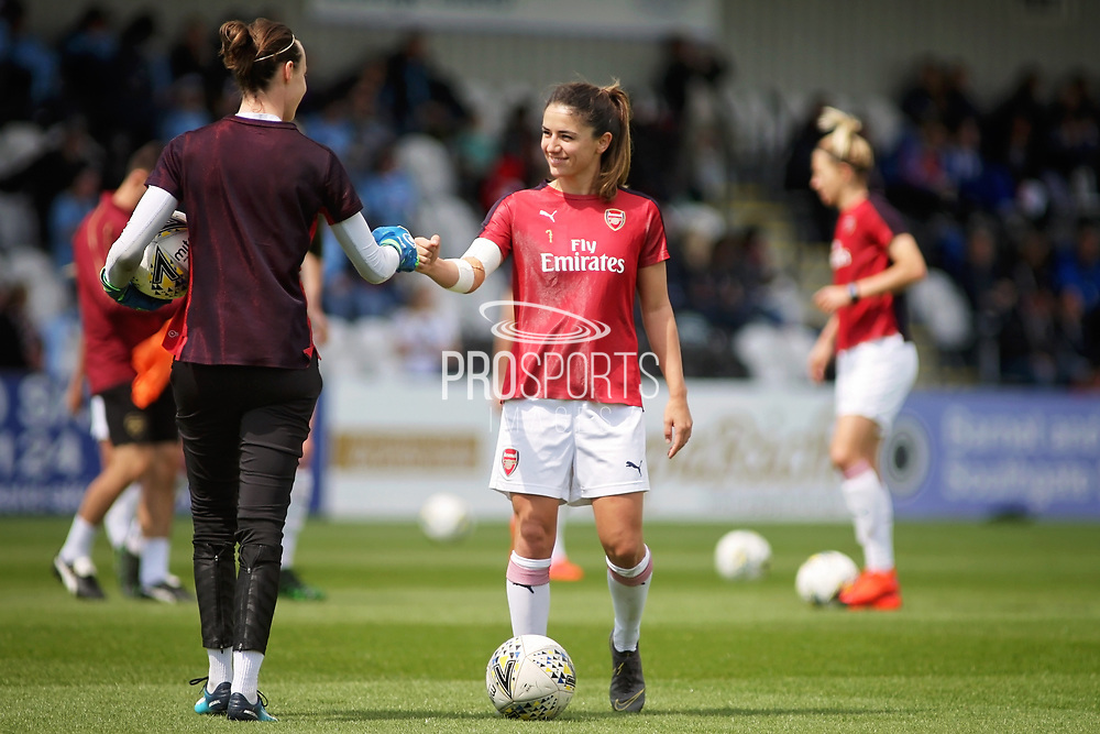 Arsenal midfielder Danielle Van de Donk (7) before the FA Women's Super League match between Arsenal Women FC and Manchester City Women at Meadow Park, Borehamwood, United Kingdom on 12 May 2019.