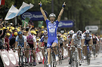 Sykkel<br /> Tour de France 2004<br /> 09.07.2004<br /> Foto: PhotoNews/Digitalsport<br /> <br /> ETAPE 06 / RIT 5  BONNEVAL / ANGERS<br /> <br /> <br /> TOM BOONEN JOIE VREUGDE