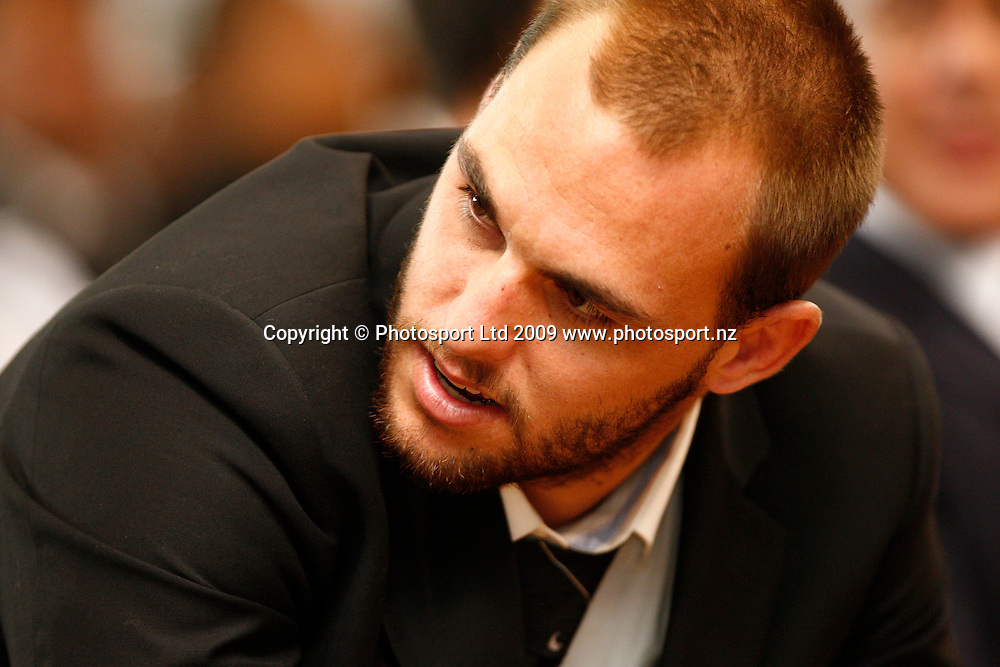 Simon Mannering. Rugby League. NZRL's Annual Awards. Otahuhu Rugby League Club, Henham Park, Auckland. Sunday 1st February 2009. Photo: Simon Watts/PHOTOSPORT