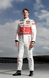 JEREZ DE LA FRONTERA, SPAIN - Monday, February 8, 2010: Jenson Button (Vodafone McLaren Mercedes). (Pic by Juergen Tap/Propaganda/Hoch Zwei)