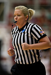 March 22, 2010; Stanford, CA, USA;  NCAA official Marianne Karp during the first half of the game between the Stanford Cardinal and the Iowa Hawkeyes in the second round of the 2010 NCAA womens basketball tournament at Maples Pavilion. Stanford defeated Iowa 96-67.