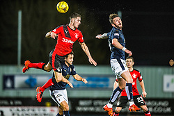 Falkirk's Tom Taiwo and Falkirk's Lee Miller. <br /> Falkirk 3 v 2 Rangers, Scottish Championship game player at The Falkirk Stadium, 18/3/2016.