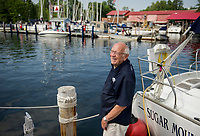 Merrill Fay at Fay's Boat Yard on Lake Winnipesaukee.  (Karen Bobotas/for New England Boating)