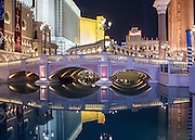 The canals of the Venitian Hotel, Las Vegas, Nevada.