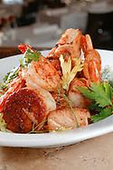 Seafood Brodetto, a popular dish by Chefs Torre Bagalman & David Solazzo of Del Porto Ristorante in Covington, LA. New Orleans Photographer Frank Aymami.