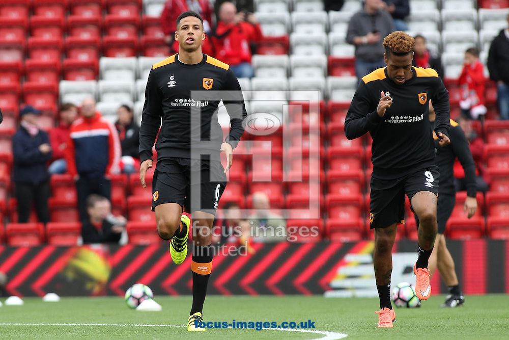 Curtis Davies of Hull City warms up prior to the Premier League match against Liverpool at Anfield, Liverpool.<br /> Picture by Michael Sedgwick/Focus Images Ltd +44 7900 363072<br /> 24/09/2016