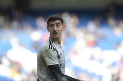 October 20, 2018 - Madrid, Madrid, Spain - Thibaut Courtois of Real Madrid during a match between Real Madrid vs Levante for La Liga Española at Santiago Bernabeu Stadium on October 20, 2018 in Madrid, Spain. (Credit Image: © Patricio Realpe/NurPhoto via ZUMA Press)