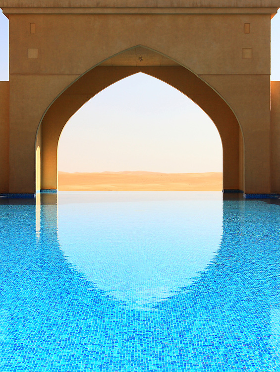 The view from a resort in the middle of the desert near Saudi Arabia.