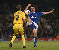 Photo: Ashley Pickering.<br />Ipswich Town v Preston North End. Coca Cola Championship. 17/10/2006.<br />Ipswich's Alan Lee and Preston's Graham Alexander