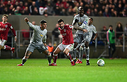 Marlon Pack of Bristol City battles for the ball with  Paul Pogba of Manchester United  - Mandatory by-line: Joe Meredith/JMP - 20/12/2017 - FOOTBALL - Ashton Gate Stadium - Bristol, England - Bristol City v Manchester United - Carabao Cup Quarter Final
