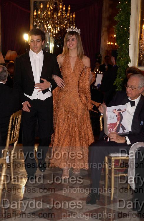 Michael Peraticos and Princess Nina Soutzo, Crillon 2004 Debutante Ball. Crillon Hotel. Paris. 26 November 2004. ONE TIME USE ONLY - DO NOT ARCHIVE  © Copyright Photograph by Dafydd Jones 66 Stockwell Park Rd. London SW9 0DA Tel 020 7733 0108 www.dafjones.com