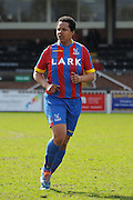 Hattrick hero Emma Whitter in action during the FA Women's South East Divison One match between Crystal Palace LFC and Luton Ladies at the Crystal Palace National Sports Centre, Croydon, United Kingdom on 5 April 2015. Photo by Michael Hulf.