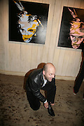 GAVIN TURK, Gavin Turk, in the exhibition Me as Him re-works Andy Warhol's final self-portraits, Riflemaker Gallery. Beak st. London. 2 July 2007.  -DO NOT ARCHIVE-© Copyright Photograph by Dafydd Jones. 248 Clapham Rd. London SW9 0PZ. Tel 0207 820 0771. www.dafjones.com.