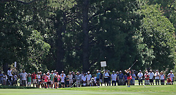 (Canberra, Australia---30 January 2011)  Spectators watch a tee shot during the final round of the ActewAgl Royal Canberra Ladies golf tournament as part of the 2011 Australian Ladies Pro Golf Tour./ 2011 Copyright Sean Burges. For Australian editorial sales, contact seanburges@yahoo.com.