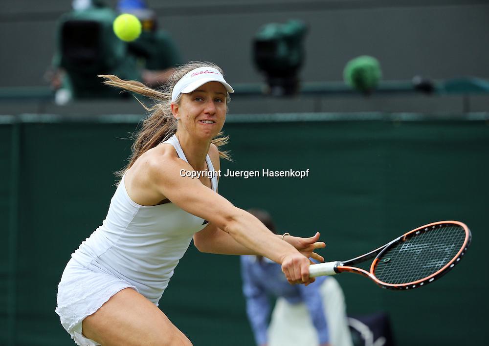 Wimbledon Championships 2014, AELTC,London,<br /> ITF Grand Slam Tennis Tournament,<br /> Mona Barthel (GER),Aktion,Einzelbild,<br /> Halbkoerper,Querformat,