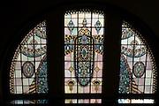 Glasfenster, Kaiser-Friedrich-Therme innen, Wiesbaden, Hessen, Deutschland | glas window, Kaiser-Friedrich-Therme, Wiesbaden, Hesse, Germany