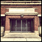 Nathaniel Pope Elementary, 1852 S Albany Ave in North Lawndale. Opened 1918, closed 2013. Designed by Swedish architect Arthur Hussander, it is one of several Classical Revival school buildings Hussander built along Chicago&rsquo;s boulevard system. Photographed Monday, Aug. 26, 2013 with an iPhone and the Instagram filter Brannan. (Brian Cassella/Chicago Tribune) B583150507Z.1 <br /> ....OUTSIDE TRIBUNE CO.- NO MAGS,  NO SALES, NO INTERNET, NO TV, CHICAGO OUT, NO DIGITAL MANIPULATION...