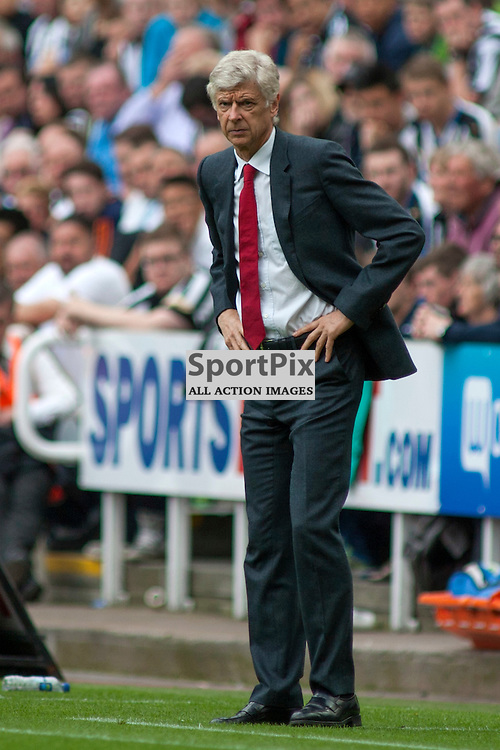 Arsene Wenger in the Newcastle United v Arsenal Barclays Premier League match at St James' Park Newcastle 29 August 2015<br />