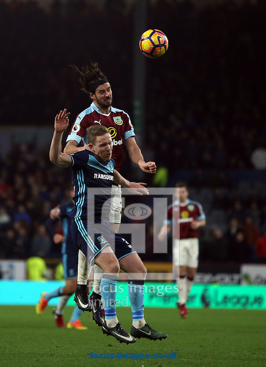 George Boyd of Burnley and Adam Forshaw of Middlesbrough during the Premier League match at Turf Moor, Burnley<br /> Picture by Christopher Booth/Focus Images Ltd 07711958291<br /> 26/12/2016