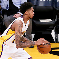 06 November 2016: Los Angeles Lakers forward Brandon Ingram (14) brings the ball up court during the LA Lakers 119-108 victory over the Phoenix Suns, at the Staples Center, Los Angeles, California, USA.