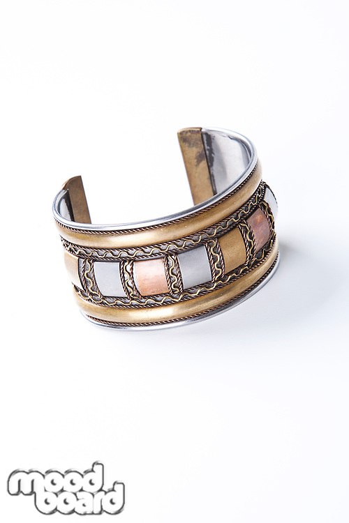 Close-up of a bracelet over white background