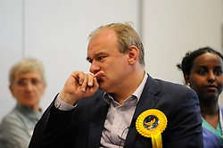 © Licensed to London News Pictures. 01/06/2017. London, UK.  Ed Davey during a visit by Liberal Democrat Leader Tim Farron and LibDem Brexit Spokesman Nick Clegg to meet hospital staff at Kingston Hospital.  Photo credit : Stephen Chung/LNP