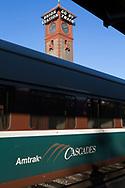 Amtrak Cascades &auml;r har just anl&auml;nt till Seattle. <br /> <br /> Foto: Christina Sj&ouml;gren