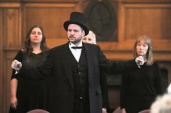 Andrew Carnegie's great-great-great grandson Joe Whiteman sings a song from the musical<br /> <br /> (c) David Wardle   Edinburgh Elite media