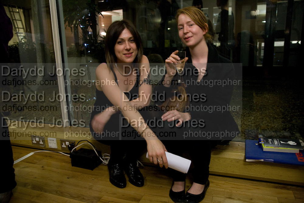 MICHELA CARRARO; SUSANNE JOHNSON, Fashioning the Future. Sustainable Fashion show Winners of Adidi.com student design competition announced. London College of Fashion. Princes St. London. 27 October 2008.  *** Local Caption *** -DO NOT ARCHIVE-© Copyright Photograph by Dafydd Jones. 248 Clapham Rd. London SW9 0PZ. Tel 0207 820 0771. www.dafjones.com.
