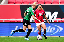 Ebony Salmon of Bristol City is marked by Danique Kerkdijk of Brighton and Hove Albion Women - Mandatory by-line: Ryan Hiscott/JMP - 07/09/2019 - FOOTBALL - Ashton Gate - Bristol, England - Bristol City Women v Brighton and Hove Albion Women - FA Women's Super League