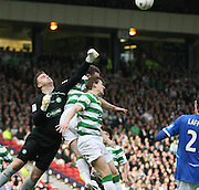 Artur Boruc punches clear during the League Cup final between Rangers and Celtic at Hampden Park -<br /> David Young