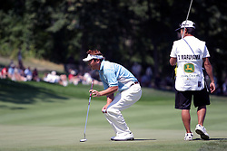 16 July 2006 Daisuke Maruyama eyes up a putt on #18. The John Deere Classic is played at TPC at Deere Run in Silvis Illinois, just outside of the Quad Cities
