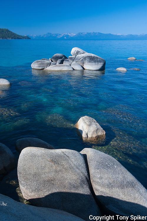 Chimney Beach 1 - Boulders in Lake Tahoe at Chimney Beach