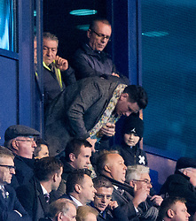 Celtic Manager Ronny Deila in the stand. <br /> Falkirk 3 v 2 Rangers, Scottish Championship game player at The Falkirk Stadium, 18/3/2016.