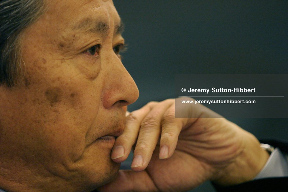 Nobuyuki Idei, President of Sony Corporation, in his boardroom, Tokyo, Japan.