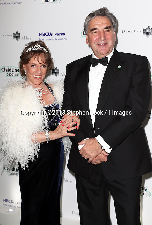 Esther Rantzen and Jim Carter arriving at the Downton Abbey ChildLine Ball in London, Thursday, 24th October 2013. Picture by Stephen Lock / i-Images